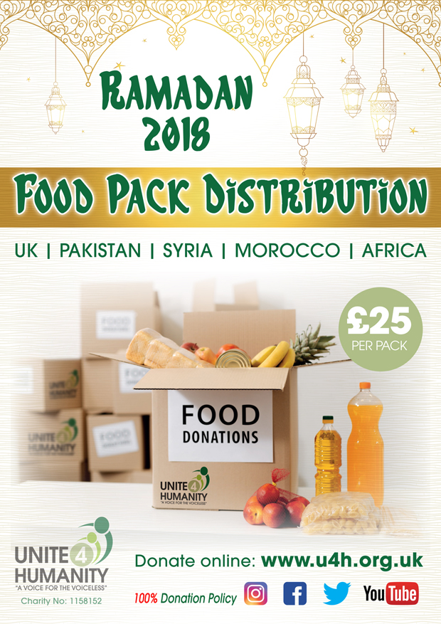 Ramadan Food Packs Distribution Poster