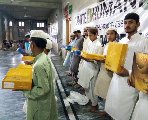 Charity Work in Ramadan Eid Gift Distribution