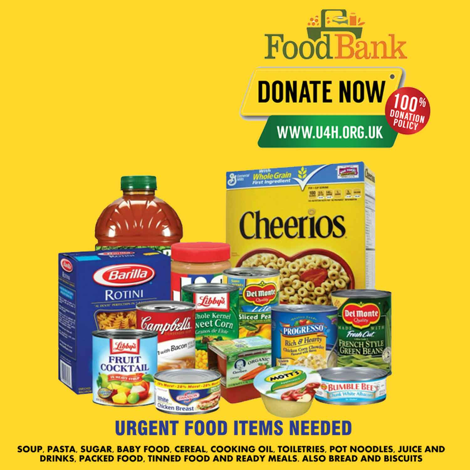 Donate Food To UK Foodbank