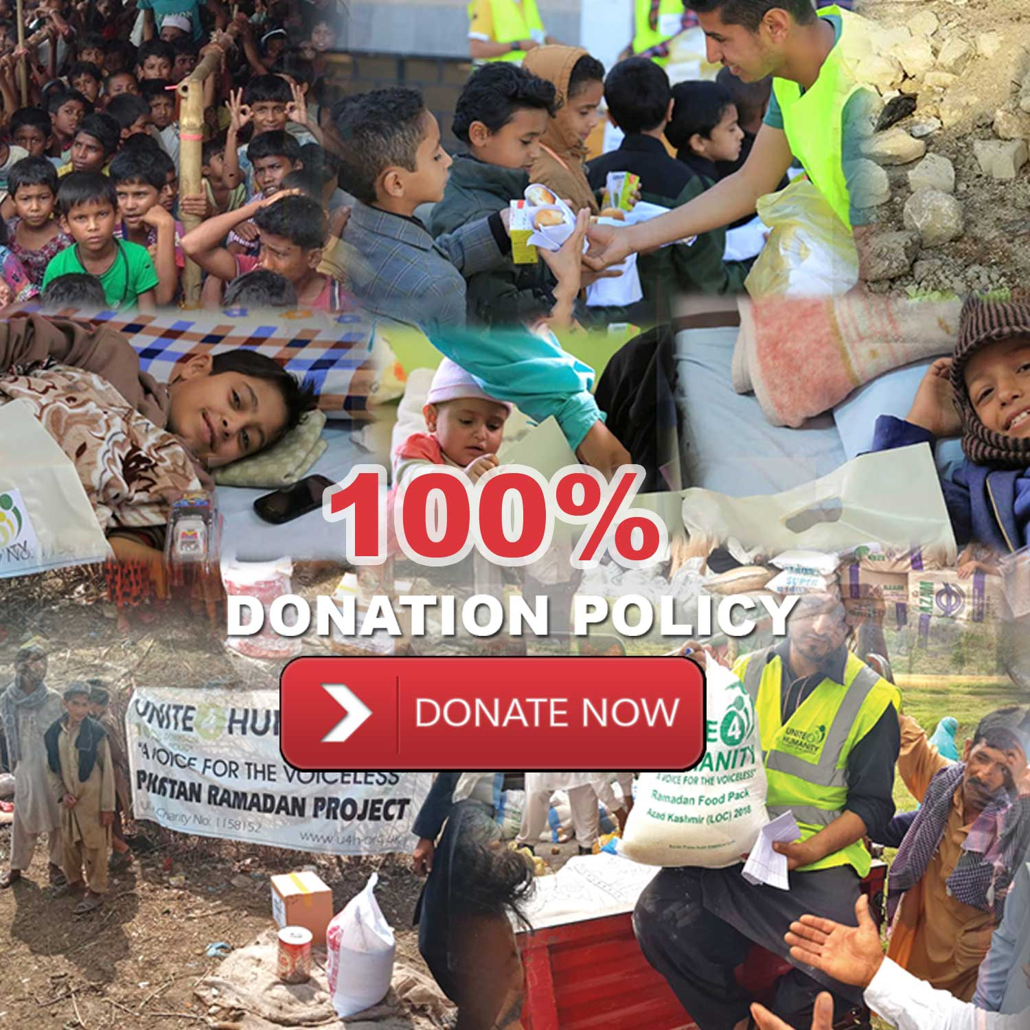 Donate for 100% Donation Policy Charity